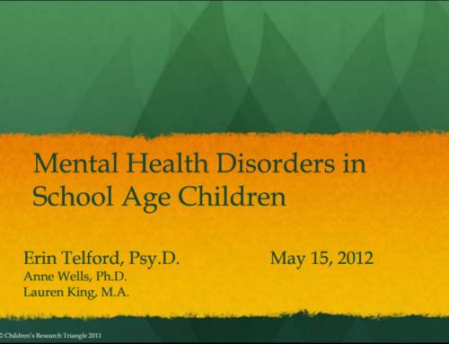 Mental Health Disorders in School Age Children