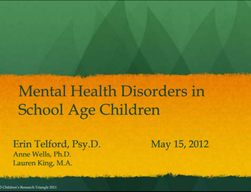 Mental Health Disorders in School Age Children